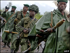 Army soldiers in eastern DR Congo