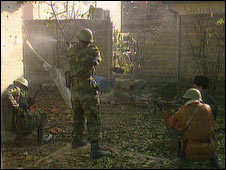Croatian soldiers defend Vukovar in 1991