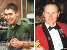 Sapper Luke Allsopp and Staff Sergeant Simon Cullingworth