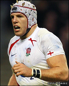 James Haskell pictured in action for England
