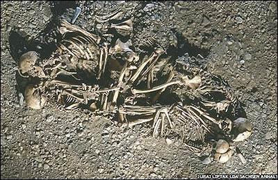Familia encontrada en Eulau (FOTO: Jurai Liptak LDA Sachsen Anhalt)