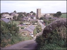 The village of Zenno, Cornwall