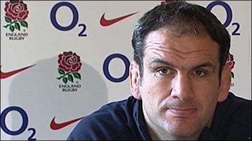 England coach Martin Johnson