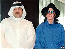Sheikh Abdulla and Michael Jackson in 2005