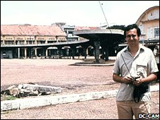 Gunnar Bergstrom on 1978 visit (photo: Documentation Centre of Cambodia)