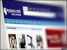 MySpace page (file image)