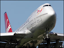 Virgin Atlantic plane (file image)