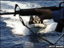 Canadian military providing an anti-pirate escort off the coast of Mogadishu
