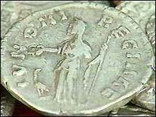 Roman coins found in Britain