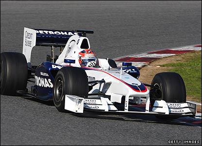 Robert Kubica in the 2008/09 hybrid BMW Sauber