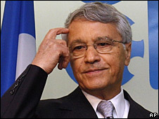 """OPEC President and Algeria""""s Minister of Energy and Mines Chakib Khelil"""