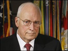 Cheney at an intelligence briefing, Oct 2008