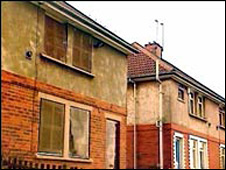 boarded up houses