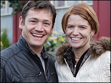 Sid Owen as Ricky Butcher and Patsy Palmer as Bianca Jackson