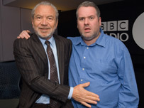 Sir Alan Sugar and Chris Moyles