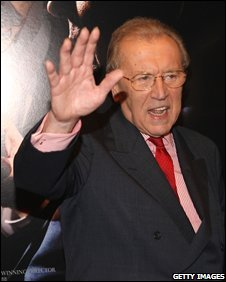 Sir David Frost attending the New York premiere of Frost/Nixon