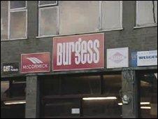 Burgess store at Llangefni