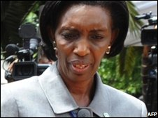 Rwandan presidential aide Rose Kabuye in Nairobi, Kenya (7/11/2008)