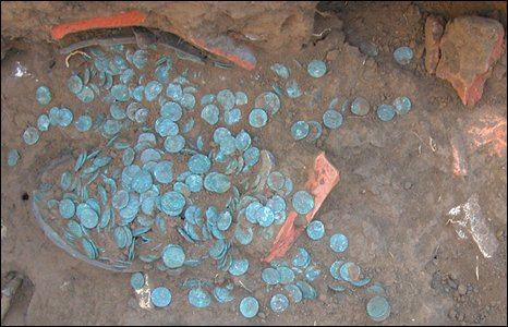 A hoard of Roman coins