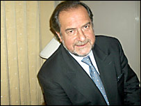 Michel Rolland en la entrevista con Estudio Abierto