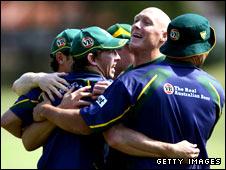 Craig Fitzgibbon and Australian team-mates