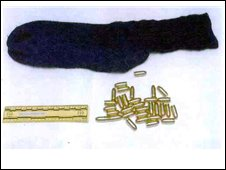 ammunition found in the youth's sock