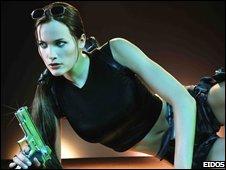 Jil de Jon as Lara Croft