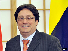 File image of Colombian Vice-President Francisco Santos-Calderon