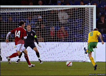 Craig Bellamy scores the winner for Wales