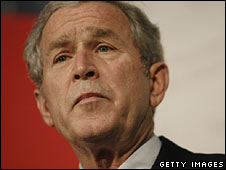President George W Bush, file pic from November 2008