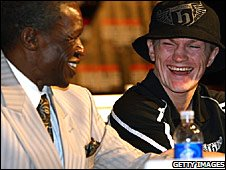 Floyd Maywether Sr and Ricky Hatton