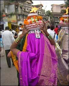 Hindu devotee in Nasik