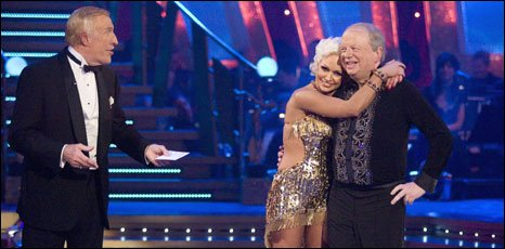John Sergeant (right) with Strictly Come Dancing host Bruce Forsyth and partner Kristina Rihanoff