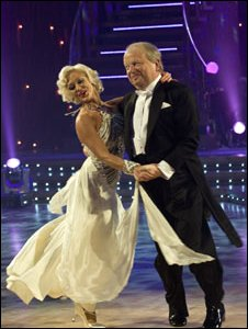 John Sergeant with Strictly Come Dancing partner Kristina Rihanoff