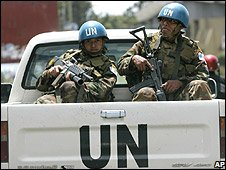 UN troops in Goma