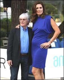 File picture of Bernie and Slavica Ecclestone