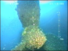 The propeller of the Britannic