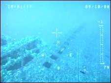 The hull of the Britannic