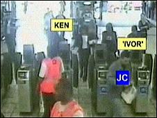 Firearms officers Ken and Ivor follow Jean Charles de Menezes