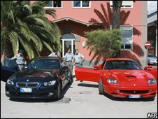Cars seized from the Camorra