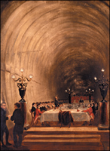 Banquet in the tunnel