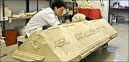 Sarcófago encontrado en el desierto de Judea