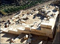 Excavaciones len Herodion, desierto de Judea.
