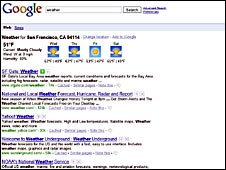 Google search page with SearchWiki