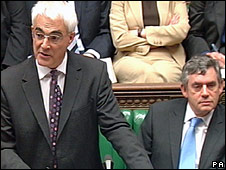 Alistair Darling and Gordon Brown at the 2007 PBR