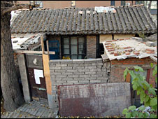 The home of Chinese activist Ni Yulan and her husband Dong Jiqin, before it was demolished by Chinese authorities