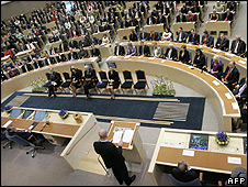 Swedish parliament (file pic)