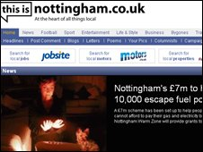 This is Nottingham website