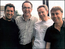 Ray Morrissey (second left) with Sex Pistols Steve Jones, Paul Cook and Glen Matlock