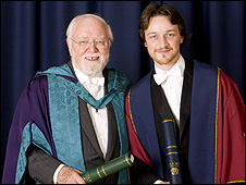 Lord Attenborough and James McAvoy